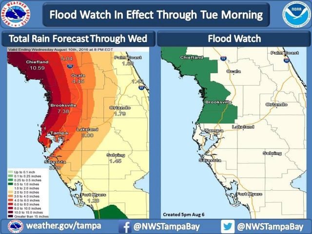 Flood Watch in effect for Central Florida