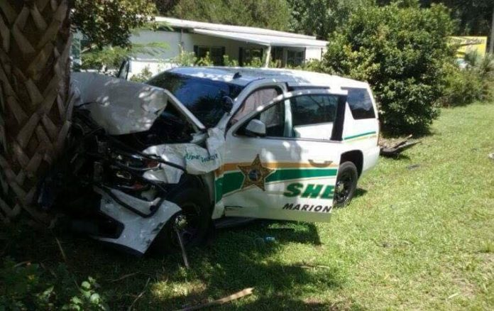 MCSO Patrol Vehicle Totaled after driver fails to yield