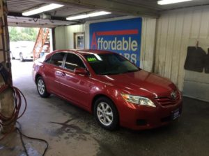 2011 Red 4dr Toyota Camry