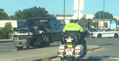 Man Killed while stopped for school bus on his motorcycle