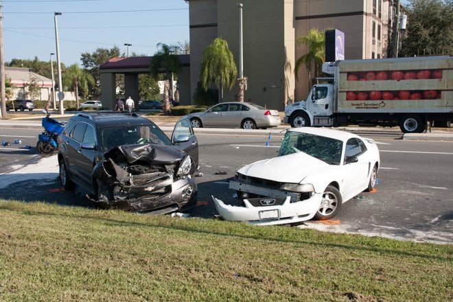 Early morning accident on Citrus Boulevard in Leesburg