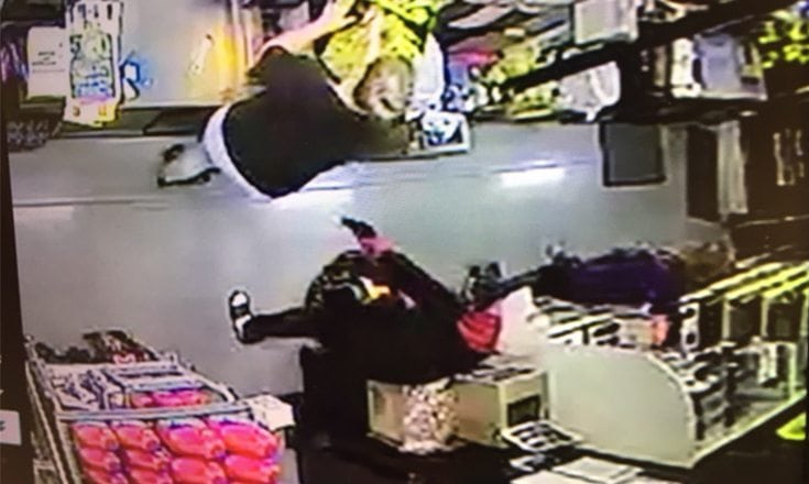 Surveillance footage from Dollar General shows the suspect as he robbed the Coleman store early Tuesday morning while armed with a handgun.