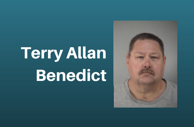 Terry Allan Benedict was arrested after allegedly attempting to meet up with who he believed was a minor for sex.