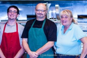 From left to right: Eric Beard (Cook), David Johnson (Owner), and Tracie Hirsch (Server)
