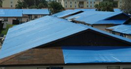 """Officials launch """"Operation Blue Roof"""" to help protect Lake County residents' homes damaged by Hurricane Irma from further damage."""